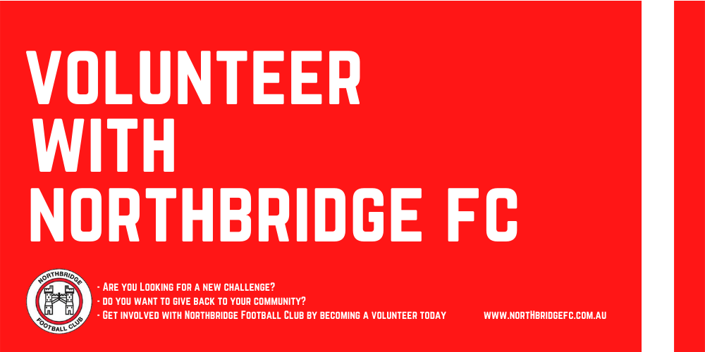 Become a Volunteer with Northbridge FC