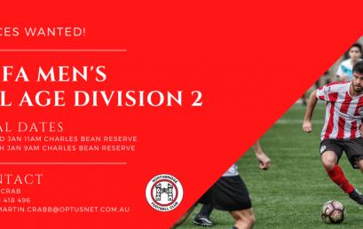 NSFA Men's All Age Division 2 2021 Season Trials
