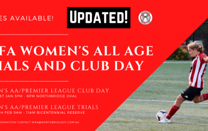 NSFA Women's All Age 2021 Season Kick Off and Trials