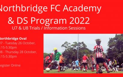 NFC Academy & DS – U7 & U8 Trials